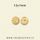 Charm mini -  Redondo  mini  oro viejo P947  (20 piezas)
