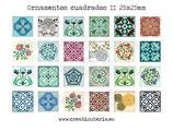 Lámina 24  Imágenes ornamentos cuadrados II 25x25mm