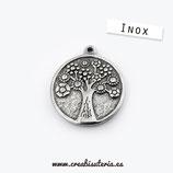 INOX - colgante árbol den la vida con flores