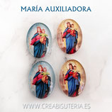 Cabuchón Cristal Religión - María Auxiliadora 2 modelos