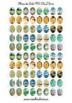 80 Imágenes para camafeos de arte clásico M01  Formato:18x25mm