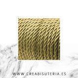 Cordón trenzado de Rayón  dorado 6mm