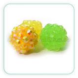 Abalorio Rhinestone R3 - 015 Amarillo y verde pistacho  (6 abalorios)