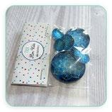 Cabuchón Cristal estampado flor de la vida azul AZULES PACK 30+25+15+15+12+12mm