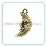 Charm luna mediana bronce viejo CHAOOO-C02410 (10 unidades)