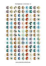 126 Imágenes vintage de mariposas II *Nuevas* 15x15mm