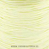 Cordón macramé 1mm  Calidad Suprema  Color Amarillo pálido - vainilla (5 metros)