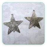 COLGANTE STAR/ 008 -  Estrella conector grande texturizada COLOOO-P687