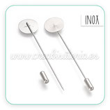 Broche - alfiler Inox new  15mm BROOOO-P066  (10 unidades)