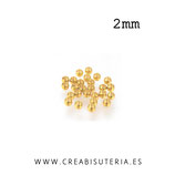 Chafas de latón color dorado 2mm P002 (80 unidades)