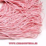 Cordón de Nylon de Escalada Redondo 2mm aprox. rosa bebé  (3 metros)