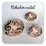 Cabuchón Cristal Music 001 (fondo beis)