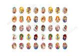 35 Imágenes de muñecas antiguas 18x25mm