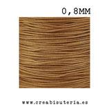Cordón macramé Gama Deluxe 0,8mm  Color siena tostada  (5 metros)