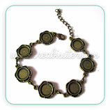 Pulsera bronce antiguo camafeo ornamental 10mm CADCIE- C2233