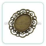 Camafeo oval ornamental bronce antiguo CAMBAS-CA079YKG-AB-LF (10 unidades)