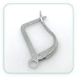 Ganchos pendientes supr rectangular plata mate- 30 pares 20x11mm C04486