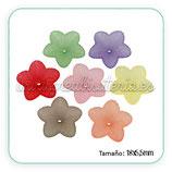 FLORLUCIT 01 -Flores acrícilicas 18x5,5mm color mates (12 unidades) CF1314M