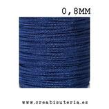 Cordón macramé Gama Deluxe 0,8mm  Color azul marino  (5 metros)