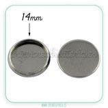 Camafeo base redondo plata para pegar ACERO INOX 14x14mm CAMBAS-PS028