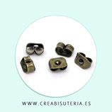 Tapones pendientes - Piezas metal bronce viejo  C223 - 40 unidades