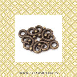CONECTOR/A/ 27- filigrana romboide vintage  deluxe  - bronce viejo  (20 unidades)