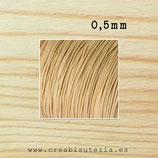 Cordón macramé extrafino 0,5mm  (5 metros) Color madera clara