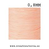 Cordón macramé Gama Deluxe 0,8mm  Color salmón claro  (5 metros)