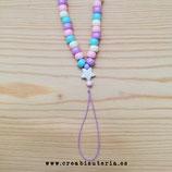 Cuelgamóviles multicolor acrílico Tamaño pequeño - Abalorios grandes tonos pastel