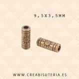 Entrepieza B Tubo Sol  bronce viejo (40unidades)