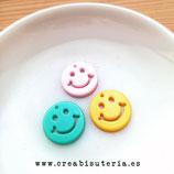 Colgante Acrílico - Pieza redonda 20mm .Emoticono/ Smiley /