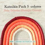 Abalorio arcilla Katsuki polimérica redondo plano 6,5mm (380/400 unidades apro) pack  tonos Beis naranja granate