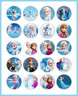 20 imágenes de Frozen 25x25mm