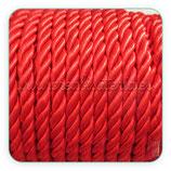 Cordón trenzado de Rayón rojo 6mm