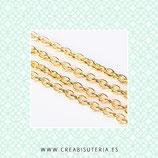 Cadena sencilla dorado eslabón pequeño  sencillo 3x2mm (5m) CSEN2X3mm
