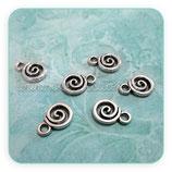Charm Espiritual - espiral plata vieja mini CHAOOO-R11469m (10 unidades)