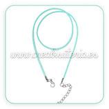 Correa collar antelina azul claro  COR-C63470