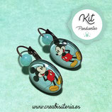 KIT PENDIENTES CAMAFEO 13x18mm Mickey Mouse