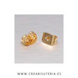 Tapones pendientes - 20 piezas de latón chapado en oro P214 - 20 unidades