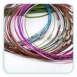 Correa gargantilla alambre de acero (10 unidades colores) COR-C12601