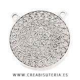 COLGANTE  Mandala filigrana 2 anillas superiores /nueva/P313  (unidad)