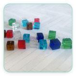 Abalorio cristal CUBO -  cuadrado 7mm ABA-C23284 (10 unidades)