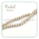 Abalorio cristal café claro aperlado 4mm (1 tira de 210 unidades aprox.) ABAL-Cristal C19055