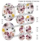 Imagen Flores de colores 08 malva