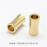 Tubo dorado agujero ancho P9540 - 9mm (20 unidades)