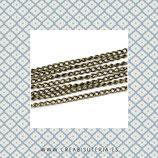 Cadena sencilla eslabón enlazado  bronce viejo (10m.) C832
