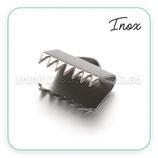 Terminal aplastar con dientes  10,5x9,5mm ACERO INOX  P103 (20 UNIDADES)