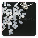 Tapones pendientes - 40 piezas caucho transparente cilíndrico largo C756