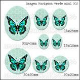 Imagen Mariposa Verde Azul 002