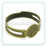 Anillo bronce antiguo adaptable basic 17,9mm (10 unidades) C16935H